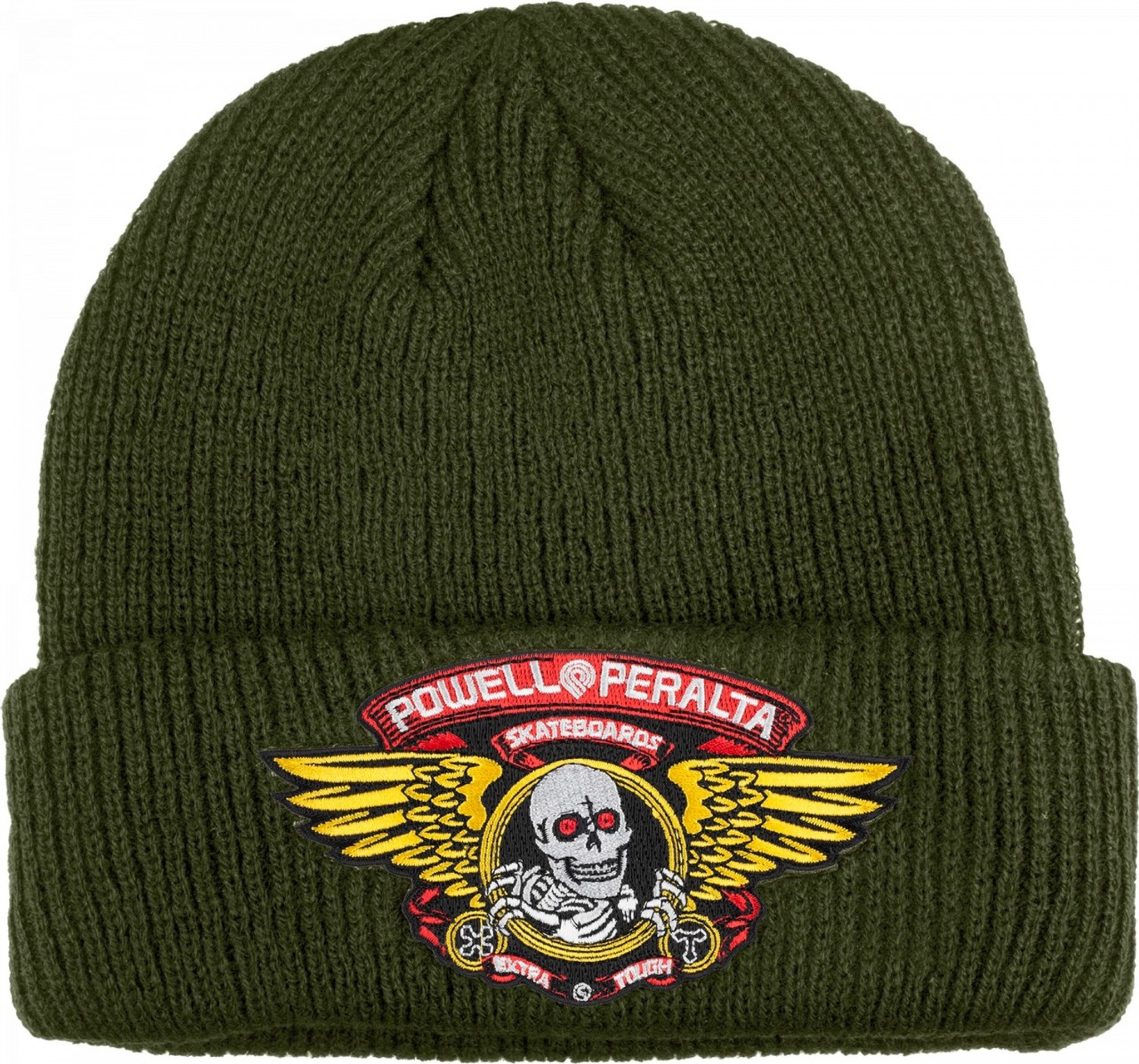 Powell Peralta Winged Ripper Beanie Hat Olive Green 8d7a9b3b40b