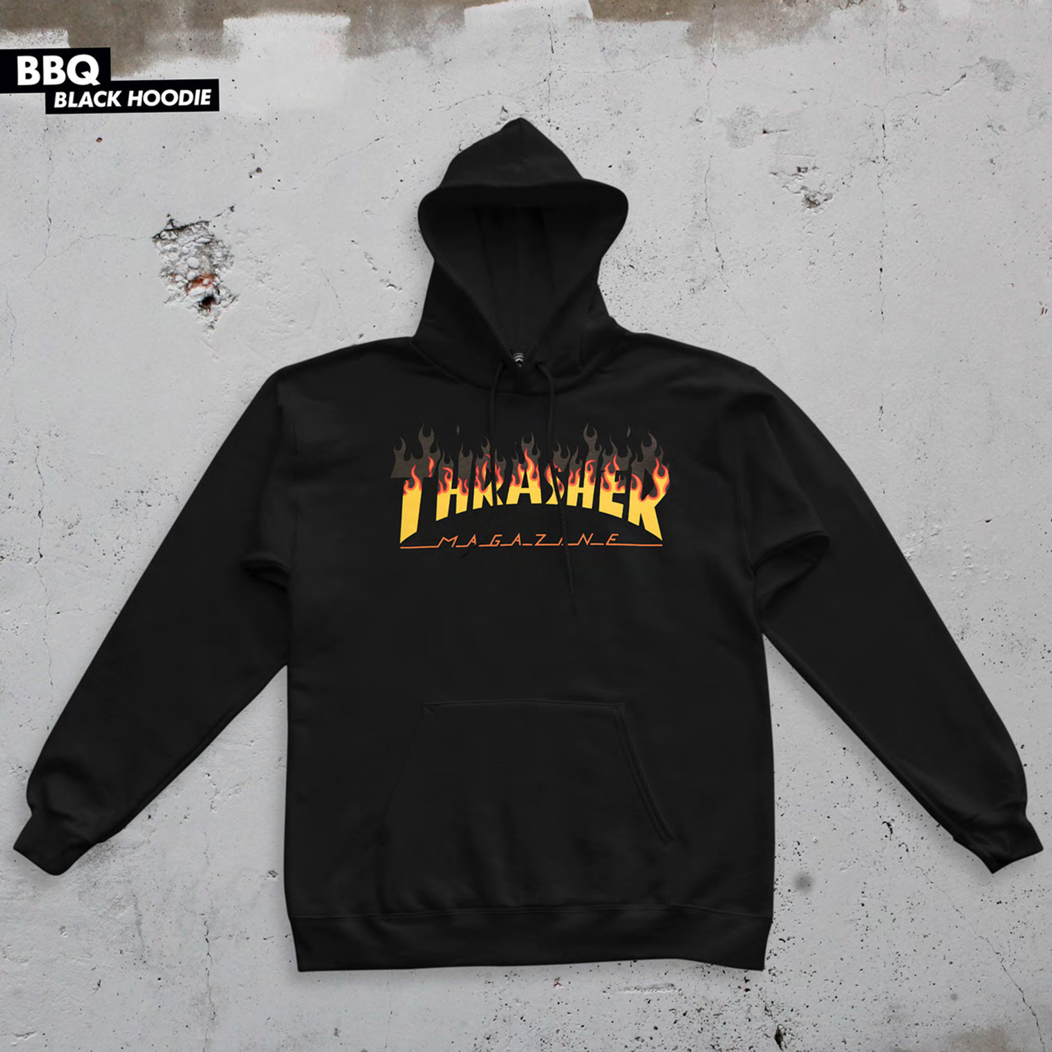 f707af426fe Thrasher Magazine BBQ Flame Sweatshirt Hoodie Hooded