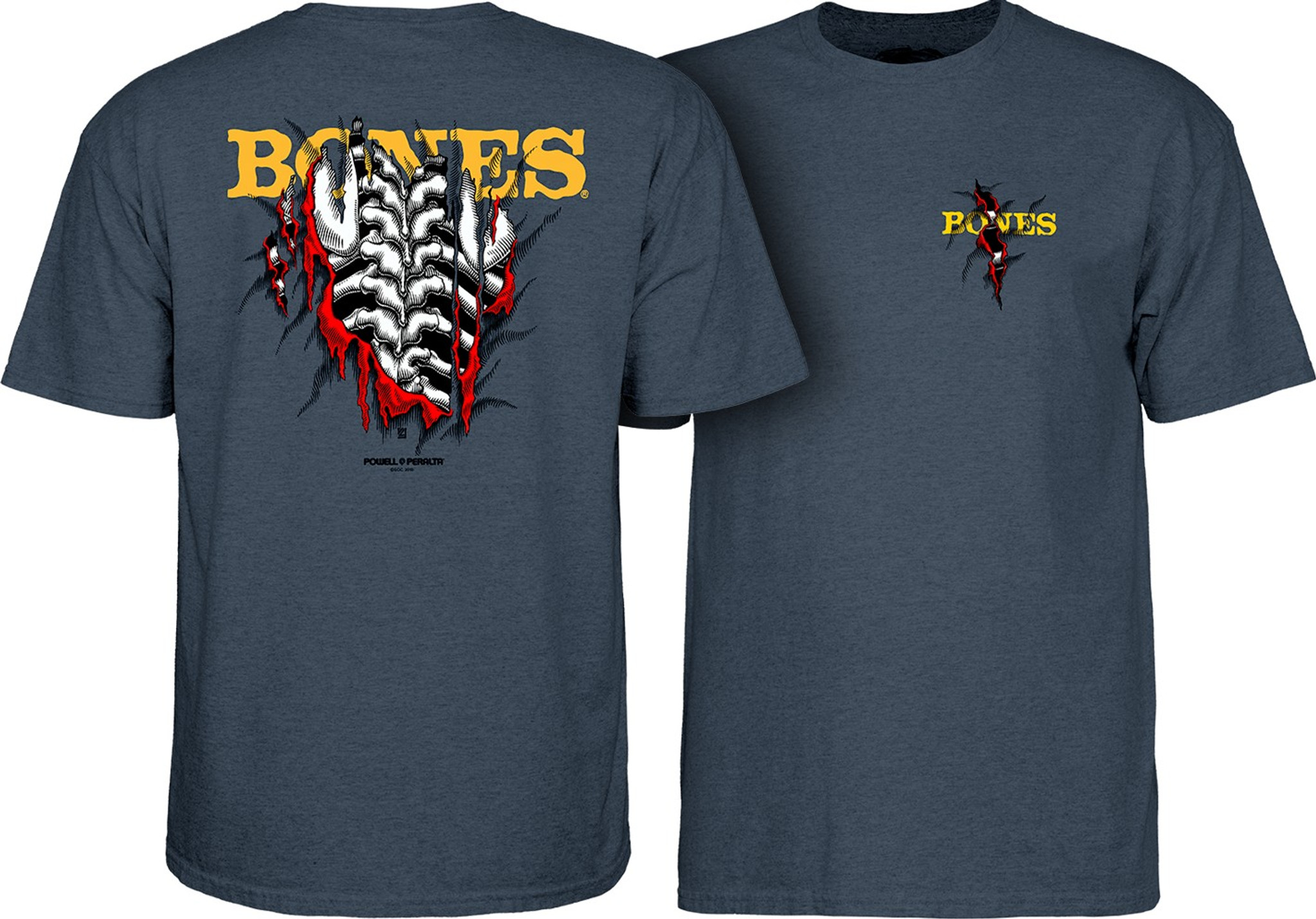 3154841a8597 Powell Peralta Bones Shred T-Shirt Old School Skateboarding Tee