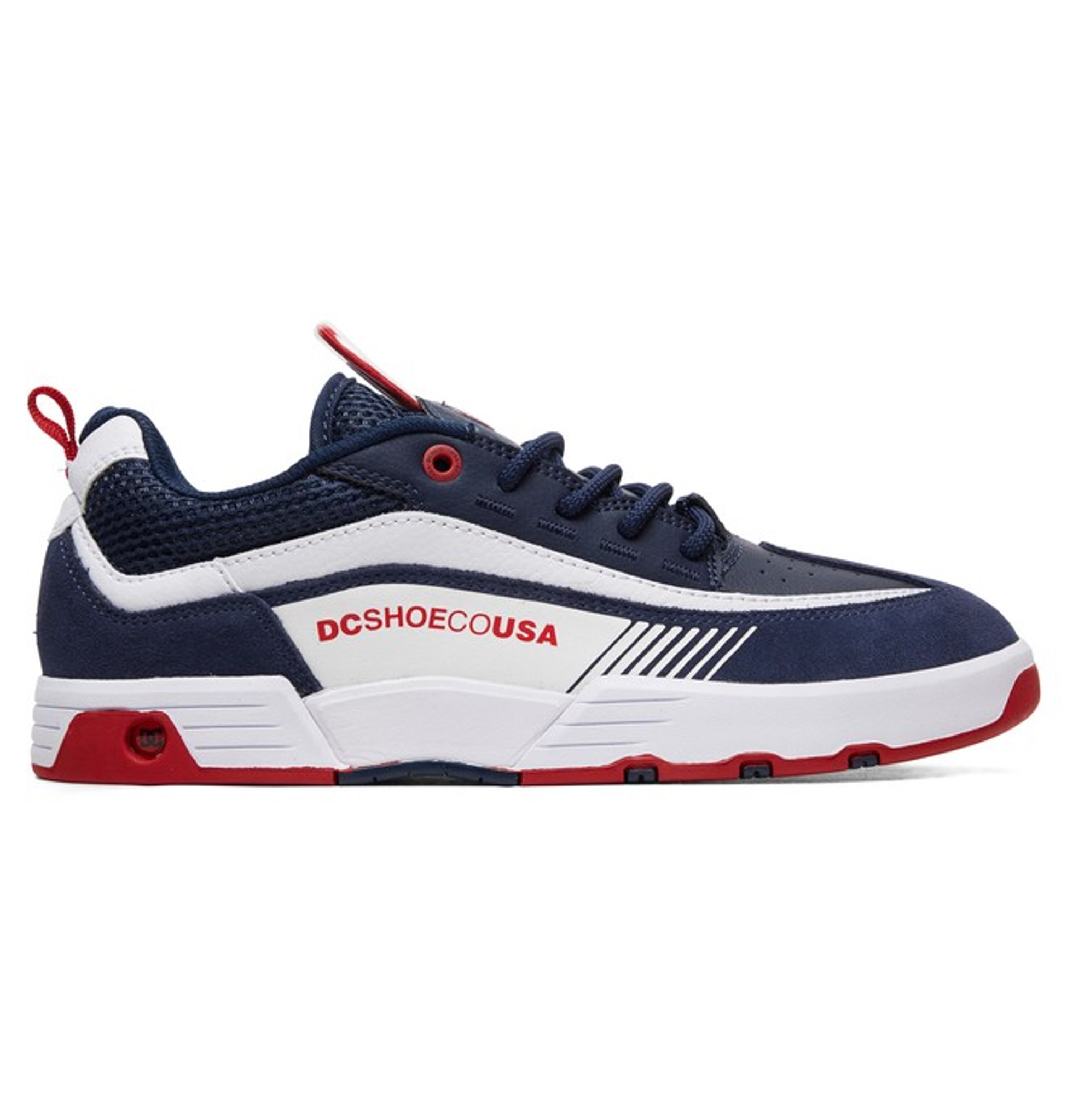 DC Legacy 98 Slim Navy White Shoes FREE