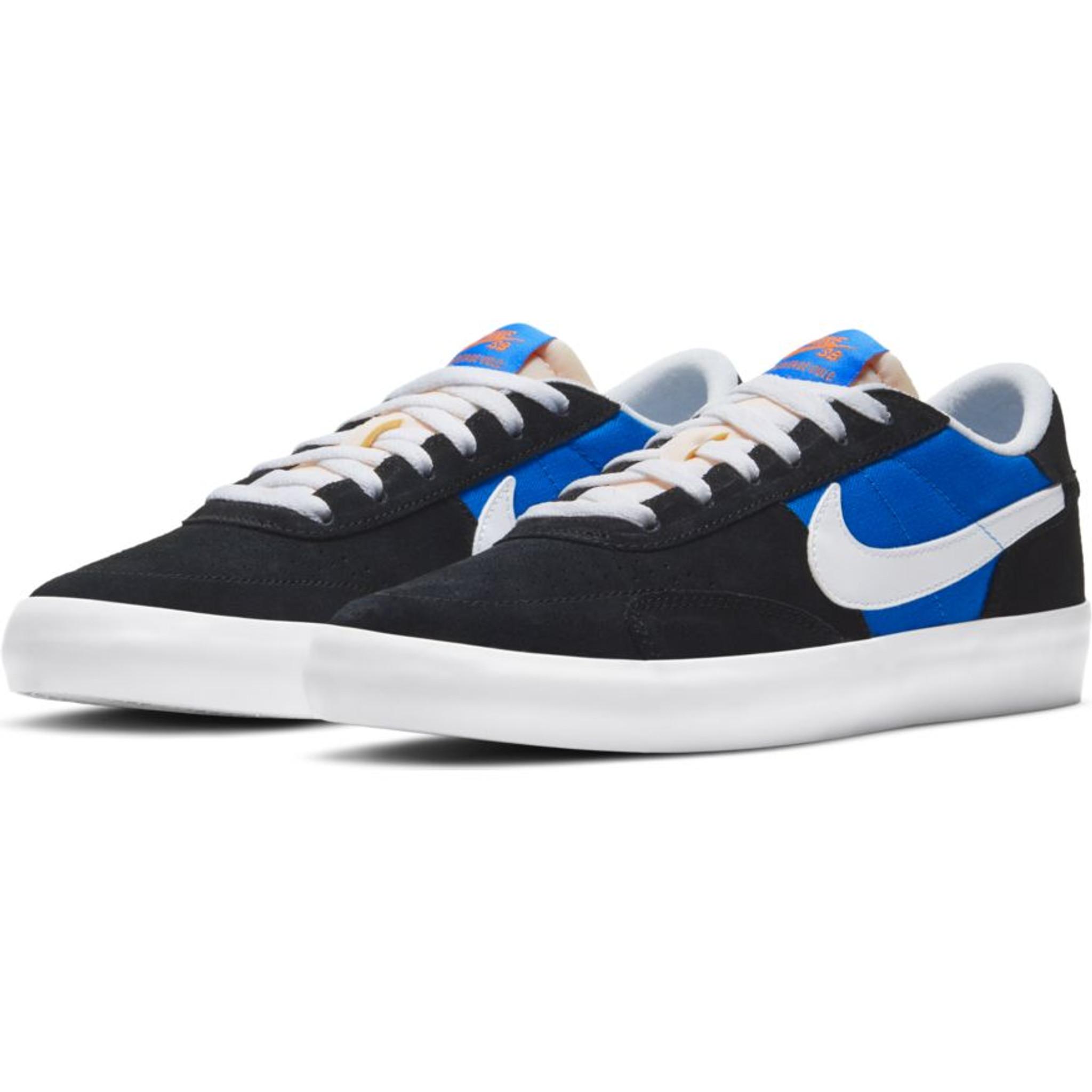 Nike SB Heritage Vulc Shoes (Black/Signal Blue) FREE USA SHIPPING