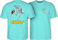 Powell Peralta Old School Skateboarding Skeleton T-Shirt (Aqua)