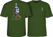 Powell Peralta Old School Skull & Sword T-Shirt (Military Green)