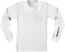 Antihero Skateboards Buckshank Long Sleeve Shirt (Silver White)