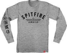 Spitfire Wheels Burn Division Long Sleeve Shirt (Athletic Heather)