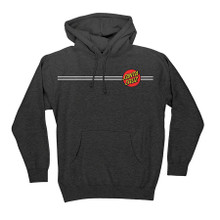 Santa Cruz Classic Dot Pullover Hooded Sweatshirt (Charcoal Heather)