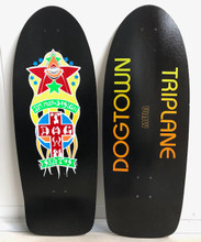 "Dogtown Muir Triplane Old School Reissue Deck 11"" X 30"" (Black Neon)"