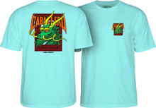 Powell Peralta Old School Caballero Street Dragon T-Shirt Celadon Blue