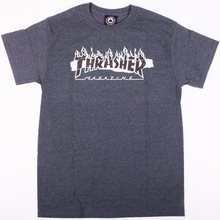 Thrasher Ripped T-Shirt (Dark Heather)
