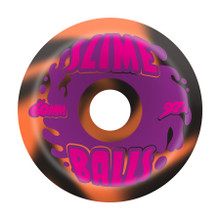 Slime Balls Splat Wheels 60mm/97a Black Orange Swirl