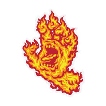 Santa Cruz Screaming Flame Hand Sticker