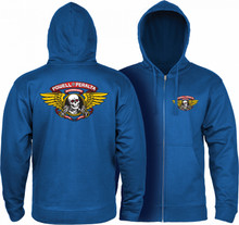 Powell Peralta Winged Ripper Zip Up Sweatshirt (Available in 5 Colors)