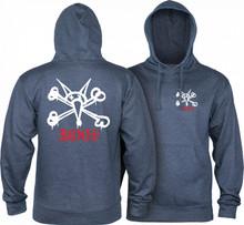 Powell Peralta Rat Bones Hooded Sweatshirt (Navy Heather)