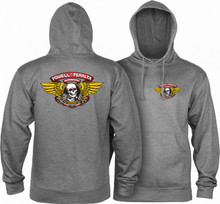 Powell Peralta Winged Ripper Hooded Sweatshirt (Gunmetal)