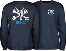 Powell Peralta Rat Bones Crew Sweatshirt (Navy Blue)