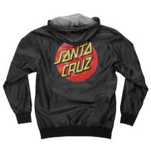Santa Cruz Dot Hooded Windbreaker Jacket (Black)