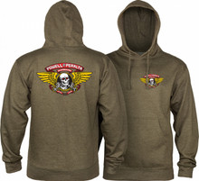 Powell Peralta Winged Ripper Hooded Sweatshirt (Army Heather)