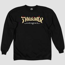Thrasher Magazine Calligraphy Crewneck Sweatshirt (Black)