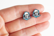 Powell Peralta Ripper Earrings (Set) Blue