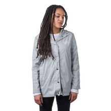 Santa Cruz Womens Oval Dot Storm Hooded Jacket (Storm Cloud Grey)
