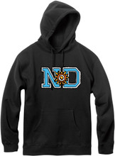 New Deal ND Logo Pullover Hooded Sweatshirt (Black)