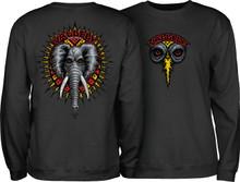 Powell Peralta Vallely Elephant Crew Sweatshirt (Black)