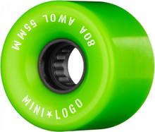 Mini Logo AWOL Wheels 55mm/80a Green (Set of 4)