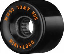 Mini Logo AWOL Wheels 55mm/80a Black (Set of 4)