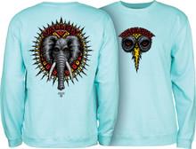 Powell Peralta Vallely Elephant Crew Sweatshirt (Mint Green)