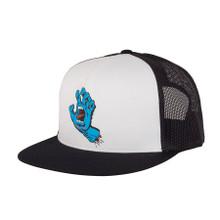 Santa Cruz Screaming Hand Mesh Trucker Hat (Black/White)