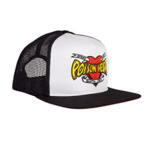 Santa Cruz Speed Wheels Poison Heart Mesh Trucker Hat (Black/White)