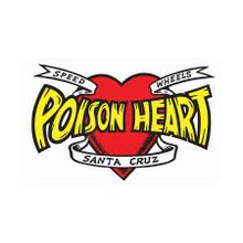 Santa Cruz Speed Wheels Poison Heart Sticker