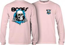 Powell Peralta Old School Bones Ripper Long Sleeve Shirt (Light Pink)