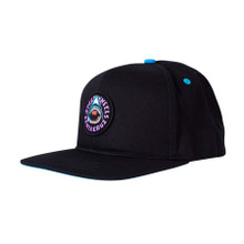 Santa Cruz Speed Wheels Shark Snapback Hat (Black)