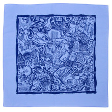 Blockhead Bandana 35 Year Collage (Blue/Blue)