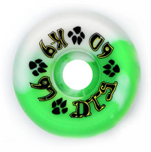 Dogtown K-9 80's Wheels 60mm x 97a - Green White Swirl (Set of 4)