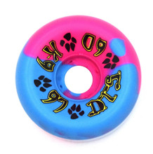 Dogtown K-9 80's Wheels 60mm x 97a - Pink Blue Swirl (Set of 4)