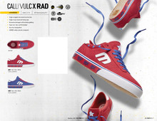 Etnies x RAD Calli Vulc Shoes (Blue) FREE USA SHIPPING