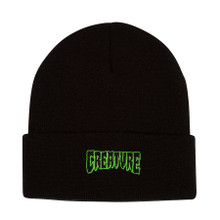 Creature Skateboards Outline Logo Beanie (Black)