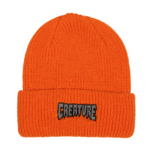 Creature Skateboards Outline Logo Beanie (Orange)