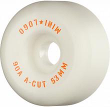 Mini Logo Skateboard Wheels Hybrid A-Cut 53mm 90A White 4pk
