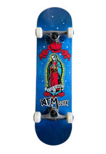 """ATM Mary Complete Skateboard 8.0"""" (Blue) FREE USA SHIPPING"""