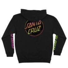 Santa Cruz Contra Dot Pullover Hooded Sweatshirt (Black)
