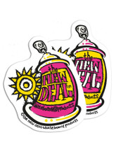 New Deal Spray Can Stickers (Two )