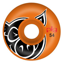 Pig Head ProLine Wheels 54mm/101a Orange (Set of 4)