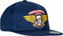 Powell Peralta Winged Ripper Snapback Hat (Navy)
