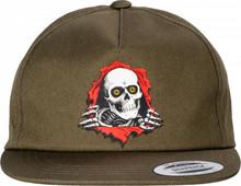 Powell Peralta Ripper Snapback Hat (Military Green)