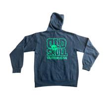 Old Skull Logo Zip Up Hooded Sweatshirt (Charcoal Heather)