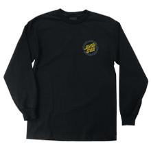 Santa Cruz Hollow Ring Dot Long Sleeve Shirt (Black)