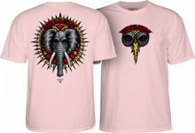 Powell Peralta Mike Vallely Elephant T-Shirt (Light Pink)
